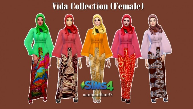 Sims 4 Hijab Model038 & Vida Collections at Aan Hamdan Simmer93