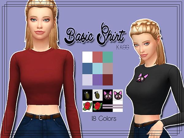 Basic Shirt at Kass image 2573 Sims 4 Updates