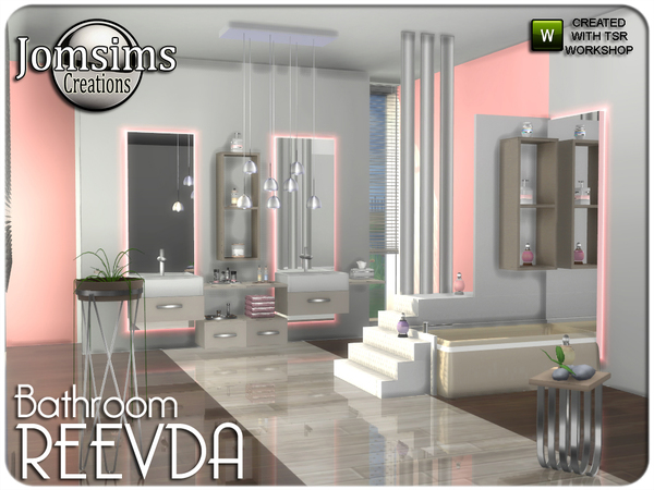 Reevda bathroom by jomsims at TSR image 258 Sims 4 Updates