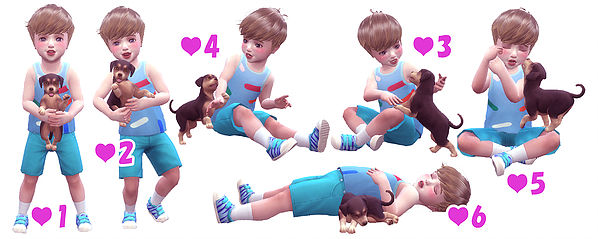 Toddler & Puppy Pose at A luckyday image 2581 Sims 4 Updates