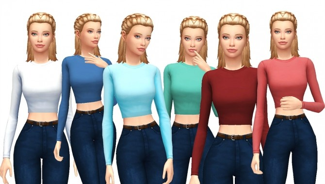 Basic Shirt at Kass image 2583 670x379 Sims 4 Updates
