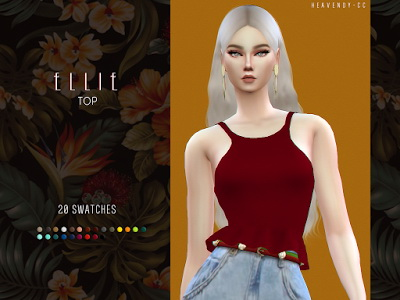 Sims 4 Ellie Top by EnriqueSims at Heavendy cc