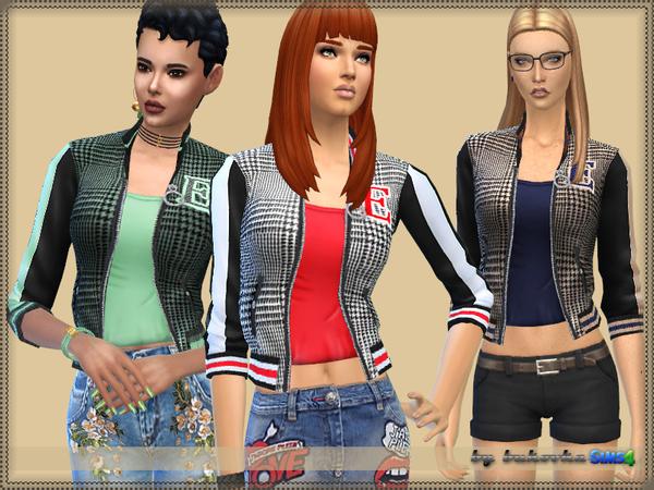 Bomber Jacket E by bukovka at TSR image 2620 Sims 4 Updates