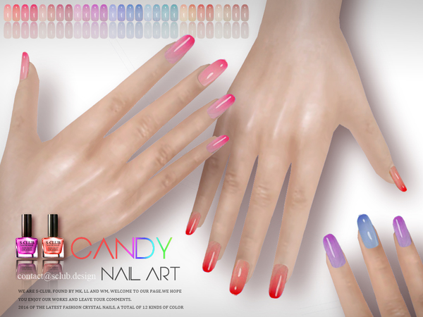Nails n09 by S Club LL at TSR image 2627 Sims 4 Updates