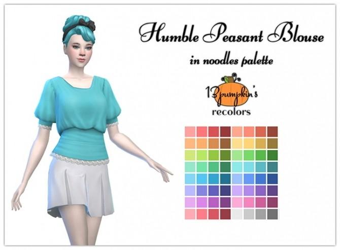 Sims 4 Humble pleasant blouse at 13pumpkin31