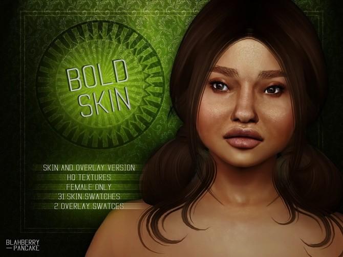 Sims 4 Bold Skin & Overlay at Blahberry Pancake