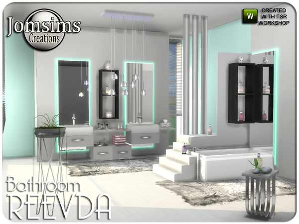Reevda bathroom by jomsims at TSR image 267 Sims 4 Updates