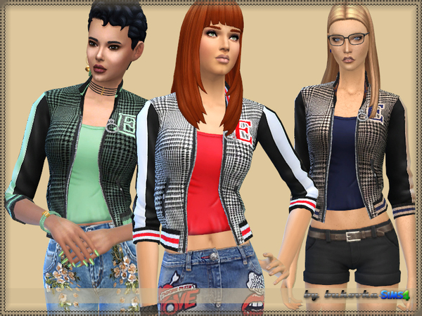 Bomber Jacket E by bukovka at TSR image 2720 Sims 4 Updates