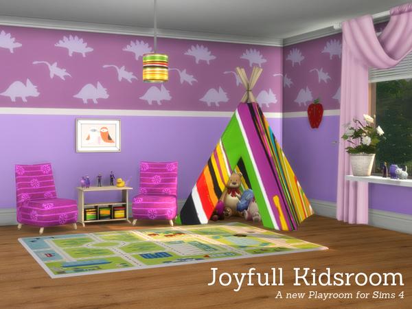 Sims 4 Joyfull Kidsroom by Angela at TSR