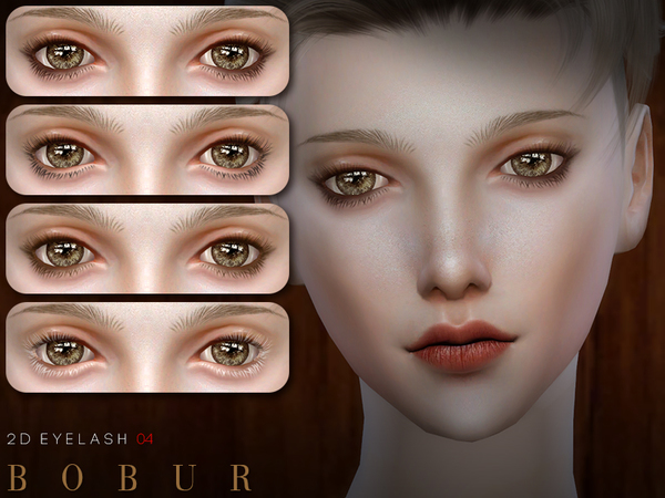 Sims 4 2D Eyelash 04 by Bobur3 at TSR