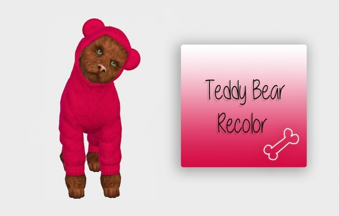 Teddy Bear for Small Dog Recolor at Simiracle image 2732 670x427 Sims 4 Updates