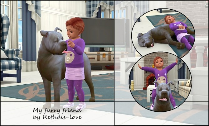 My furry friend posepack at Rethdis love image 2771 670x405 Sims 4 Updates