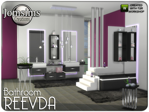 Reevda bathroom by jomsims at TSR image 278 Sims 4 Updates