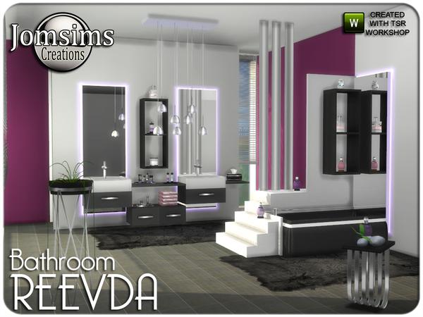 Sims 4 Reevda bathroom by jomsims at TSR