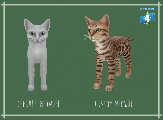 Bengal Cat Skin for S4S previewer at Giulietta image 2811 670x492 Sims 4 Updates
