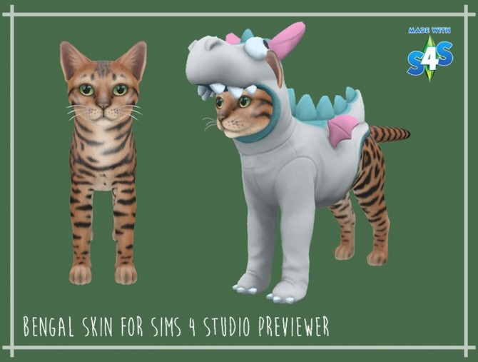 Bengal Cat Skin for S4S previewer at Giulietta image 2821 670x507 Sims 4 Updates