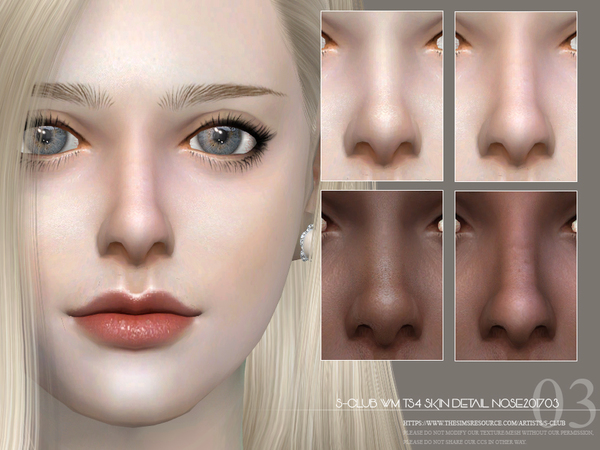 Skin Detail Nose 201703 by S Club WM at TSR image 2824 Sims 4 Updates