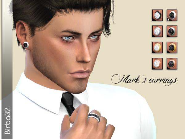Sims 4 Marks Earrings by Birba32 at TSR