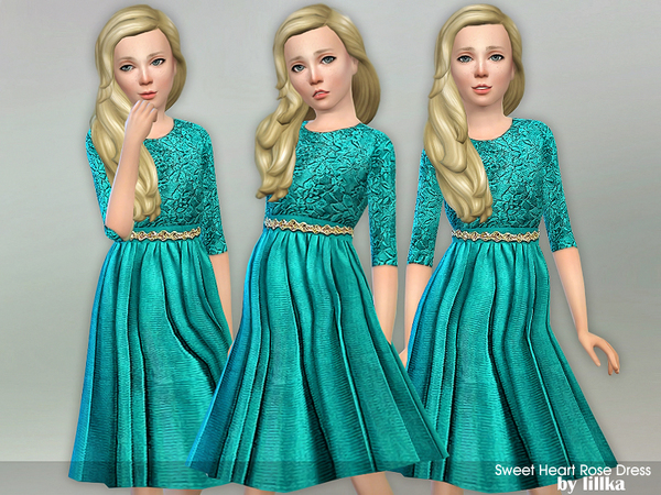 Sweet Heart Rose Dress by lillka at TSR image 2914 Sims 4 Updates
