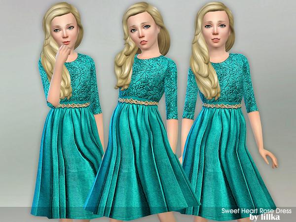 Sweet Heart Rose Dress by lillka at TSR image 2914 Sims 4 Updates