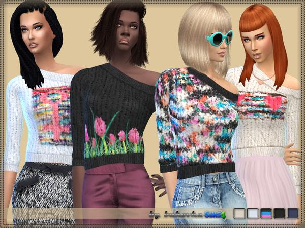 Sims 4 Sweater F by bukovka at TSR