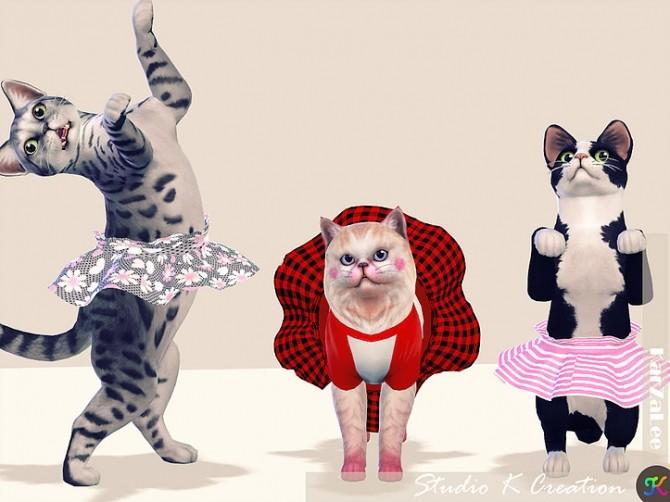 Sims 4 Cat dress N2 acc at Studio K Creation