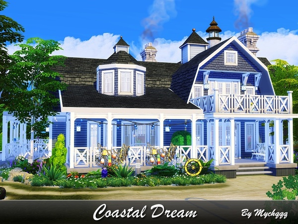 Coastal Dream house by MychQQQ at TSR image 3013 Sims 4 Updates