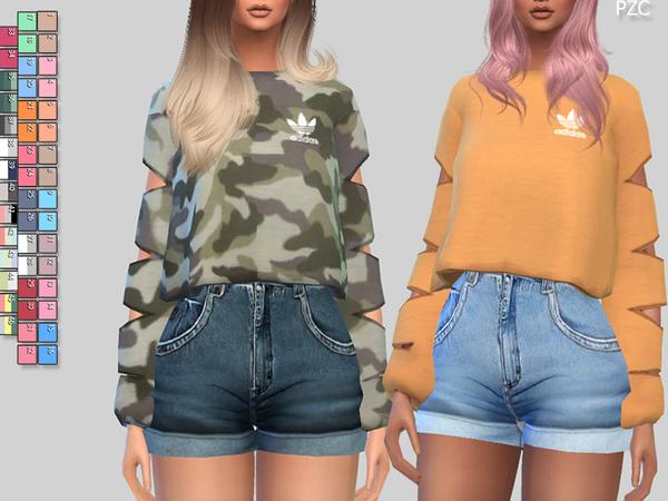 Athletic Sweatshirts 056 by Pinkzombiecupcakes at TSR image 302 Sims 4 Updates