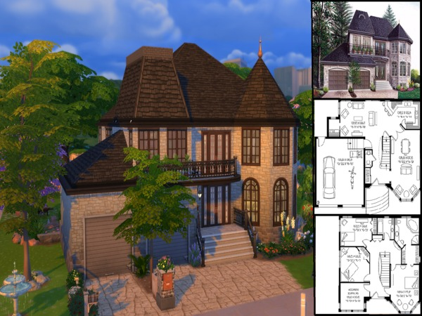 Manor Style Cottage by silentapprentice at TSR image 3109 Sims 4 Updates