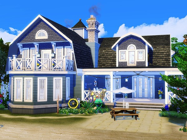 Coastal Dream house by MychQQQ at TSR image 3119 Sims 4 Updates