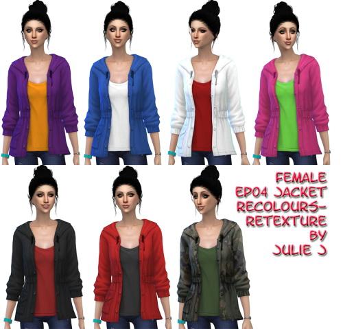 Sims 4 EP04 Jacket Recolours & Retexture at Julietoon – Julie J