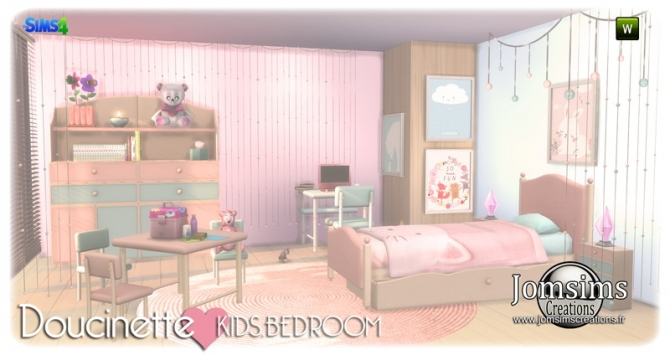 Doucinette Kids Bedroom At Jomsims Creations 187 Sims 4 Updates