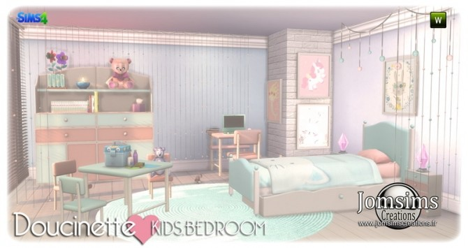 Doucinette kids bedroom at Jomsims Creations image 3172 670x355 Sims 4 Updates