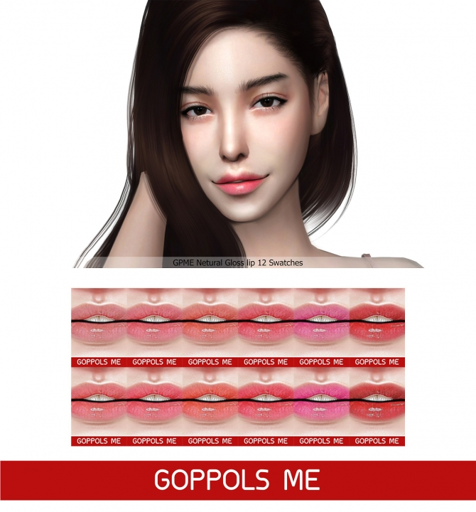Natural Gloss Lip At Goppols Me 187 Sims 4 Updates