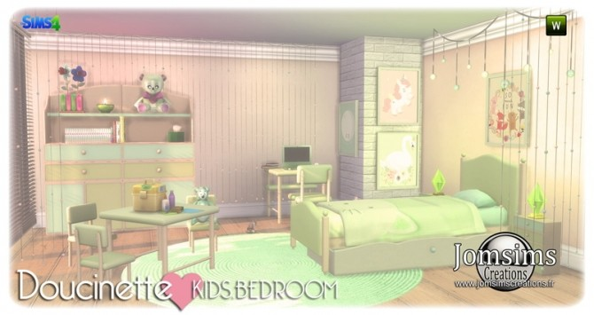 Doucinette kids bedroom at Jomsims Creations image 3182 670x355 Sims 4 Updates