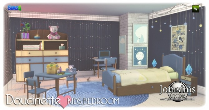 Doucinette kids bedroom at Jomsims Creations image 3192 670x355 Sims 4 Updates