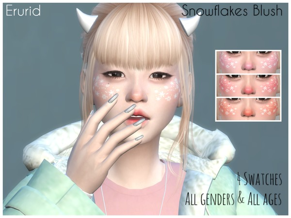 Snowflakes Blush by Erurid at TSR image 3211 Sims 4 Updates