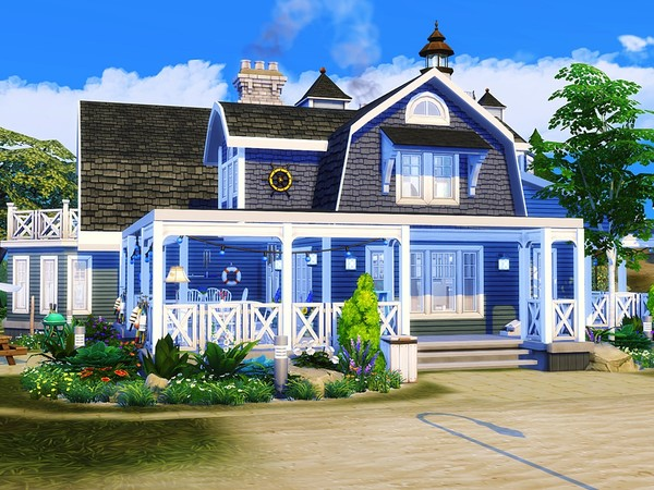 Coastal Dream house by MychQQQ at TSR image 3216 Sims 4 Updates