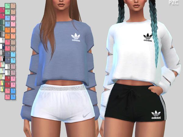 Athletic Sweatshirts 056 by Pinkzombiecupcakes at TSR image 322 Sims 4 Updates