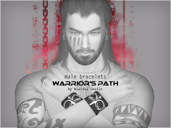 Warriors Path male bracelets by WistfulCastle at TSR image 324 Sims 4 Updates
