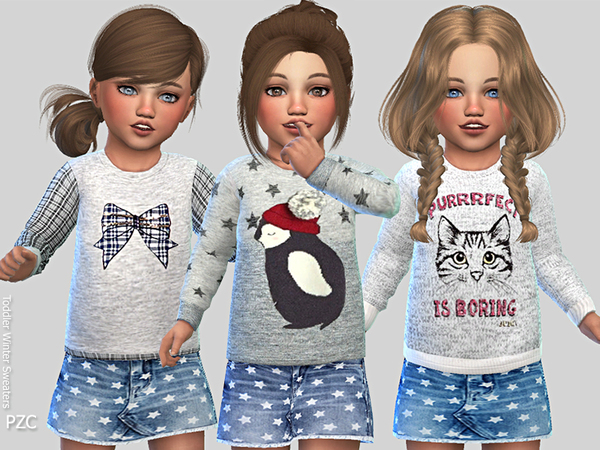 Sims 4 Winter Sweaters by Pinkzombiecupcakes at TSR