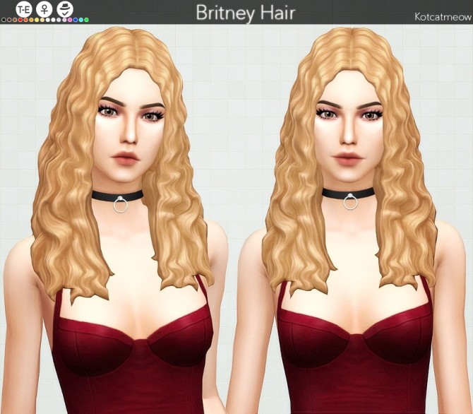 Britney hair at KotCatMeow image 3261 670x586 Sims 4 Updates