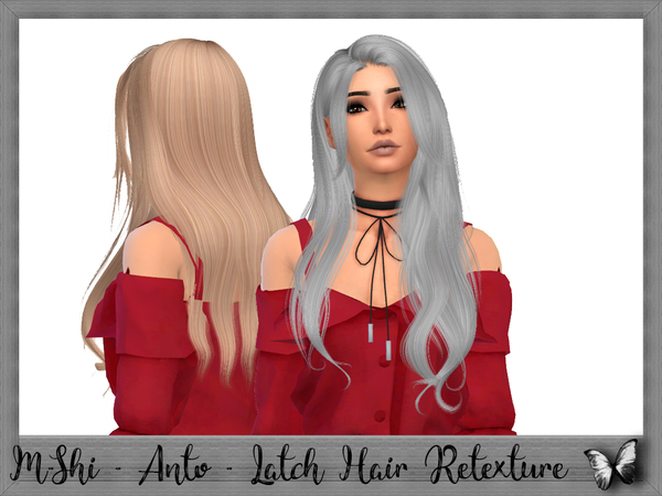 Sims 4 Anto Latch Hair Retexture by mikerashi at TSR