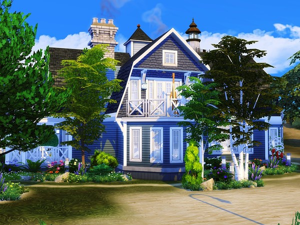 Coastal Dream house by MychQQQ at TSR image 3314 Sims 4 Updates
