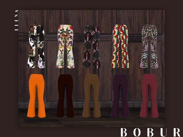 Sims 4 Elena bell pants by Bobur3 at TSR