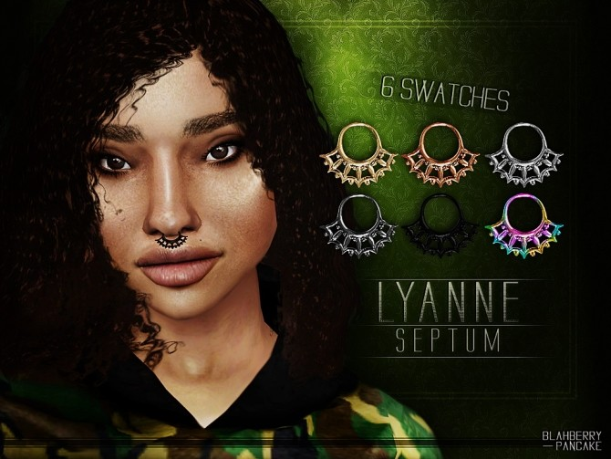Sims 4 Lyanne septum at Blahberry Pancake