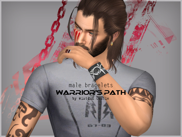 Warriors Path male bracelets by WistfulCastle at TSR image 334 Sims 4 Updates