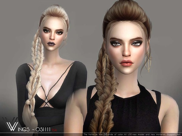 Hair OS1111 by wingssims at TSR image 337 Sims 4 Updates