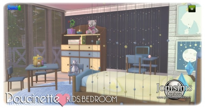 Doucinette kids bedroom at Jomsims Creations image 3401 670x355 Sims 4 Updates