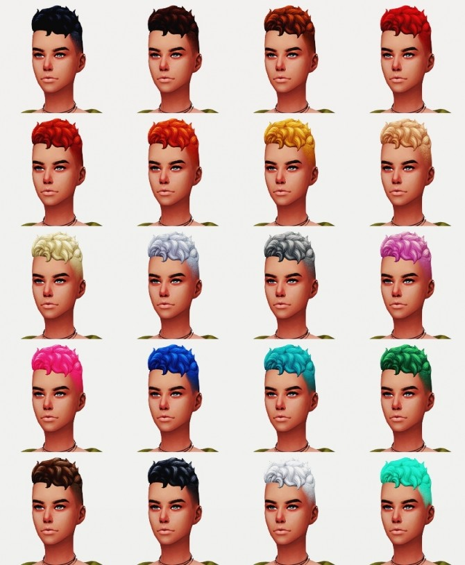 LEVI HAIR VERSIONS I & II F at Wyatts Sims image 3411 670x814 Sims 4 Updates